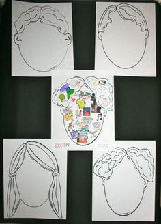 What's On Your Mind icebreaker.  Completed projects make an awesome bulletin board.  FREE templates.
