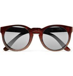 Illesteva - Leonard Round-Frame Wooden Sunglasses