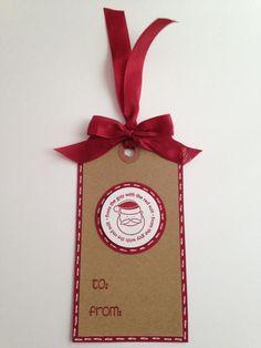 Christmas gift tag - Santa