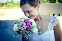 I love this pink purple and white bouquet. Photo by Hajley Petein Photography