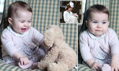 Princess Charlotte at six months old. They were shot by Kate at the family's Norfolk home and are a thank you to the British public and media.