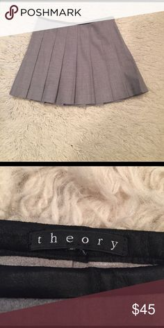Theory pleated mini skirt Excellent condition Theory mini skirt. Theory Skirts Mini