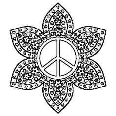 Trippy Coloring Pages | Peace Sign Mandala Coloring Pages 001 Jpg Free Download Best HD Nude ...