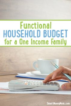 Are you a one income family that is trying to budget?