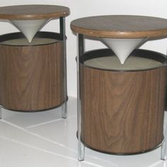 mid-century Zenith Circle of Sound speakers