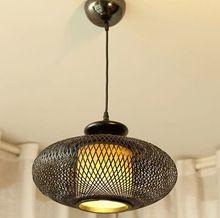 Restaurant Decor Lighting Dinning Room/cafe/bar pendant light hand knitted bamboo made bedroom decoration light lamp bedroom(China (Mainland))