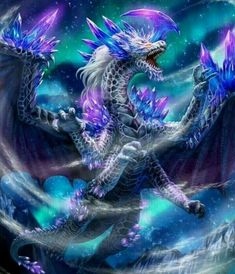 """Like dragon from """"Dragon Cry - Fairy Tail"""" movie Mythical Creatures Art, Mythological Creatures, Magical Creatures, Fantasy Dragon, Fantasy Art, Dark Fantasy, Pet Anime, Anime Art, Mythical Dragons"""