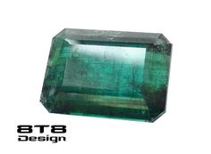 SOLD - Indicolite Tourmaline 8 carat 10 x 13 mm Emerald Cut. FREE SHIPPING Worldwide with Tracking! by 8T8Design on Etsy