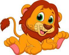 Cute baby lion cartoon  photo