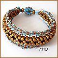 Rulla beads bracelet free tutorial