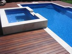 timber decking and Travertine - Google Search