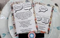 Vintage Marvel/DC Comic Book Wedding by IMetHimOnASunday on Etsy                                                                                                                                                     More