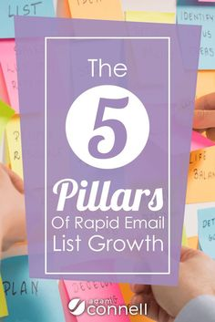 Want to rapidly grow your email list? You need to know these 5 pillars of rapid email list growth first. Click to start reading...