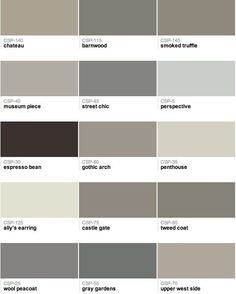 Benjamin Moore - Gray paint colors by leticia