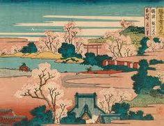 kanagawa oki nami ura bullfinch and weeping cherry blossoms ile ilgili görsel sonucu