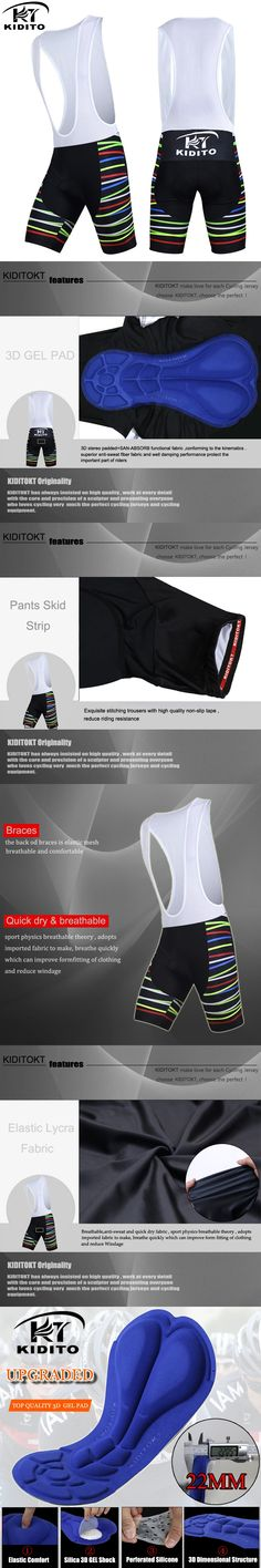KIDITOKT Leilani Cycling Shorts With 3D Anti Slip Padded Gel Summer Bicycle Short Pants Culotes Ciclismo Quick Dry Sportswear