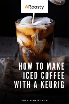 If you're trying to avoid paying money for an iced coffee when you already have a Keurig at home, you've come to the right place! It's 100% possible and surprisingly easy to do! Use our how-to guide to find out tips and tricks we've put together so you can get the most out of your home-brewed iced coffee. #coffeelovers #icedcoffee #roastycoffee #keurigcoffee Thai Iced Coffee, Vietnamese Iced Coffee, Making Cold Brew Coffee, How To Make Ice Coffee, What Is A Frappe, Coffee Course, Coffee Brownies, Shot Recipes, Coffee Benefits