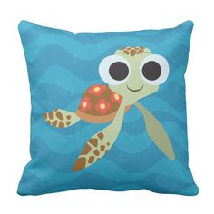 Finding Dory | Squirt. Regalos, Gifts. Producto disponible en tienda Zazzle. Product available in Zazzle store. Link to product: http://www.zazzle.com/finding_dory_squirt_throw_pillow-189745687422609957?CMPN=shareicon&lang=en&social=true&rf=238167879144476949 #cojín #pillow