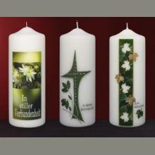 Trauerkerzen 6605-6600-6515 NEU 2019 Pillar Candles, Design, Candles, Manualidades, Homemade Candles, Candle Art, Easter Candle, Design Comics, Taper Candles