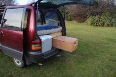 Mini Van Conversion Sliding Kitchen Drawer DIY Simple Perfect for Camping My Camper Van Design