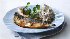 Mackerel, that delicious rich fish, starts coming into it's own in June…. – UK Food Recipes – Mackerel, that delicious rich fish, starts coming into it's own in June…. Potato Recipes, Fish Recipes, Seafood Recipes, Potato Dishes, Savoury Recipes, Dinner Recipes, Bbc Good Food Recipes, Cooking Recipes, Healthy Recipes