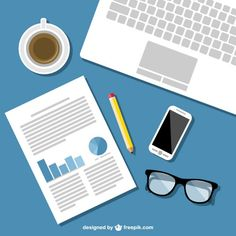 Mobile office vector template  Free Vector