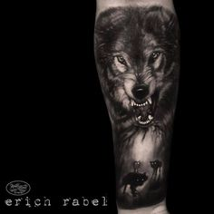 100 Forearm Sleeve Tattoo Designs For Men – Manly Ink Ideas – Sleeve Tattoos Mens Forearm Sleeve Tattoo, Wolf Tattoo Sleeve, Tattoo Sleeve Designs, Forearm Tattoos, Tattoo Designs Men, Body Art Tattoos, Cool Tattoos, Tattoo Wolf, Tattoo Arm