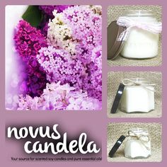 Soy Candle Mason Jar. Lilac Scented Soy Candle. Mason Jar Candle Soy Candles Scented Candles. Handmade Candles. 2, 4 & 8 oz - pinned by pin4etsy.com