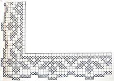 Filet Crochet Charts, Crochet Motifs, Crochet Circles, Crochet Borders, Crochet Diagram, Thread Crochet, Crochet Stitches, Crochet Dollies, Crochet Lace