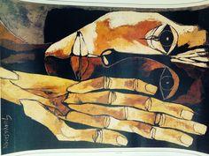Imported from Ecuador, Artist: Oswaldo Guayasamin