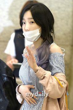 Taeyeon with mask