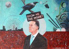 New Zealand Artist and Art Teacher Neli Seumanutafa: Kiwi art, kiwiana, surrealism, collage, rugby, birds, painting.
