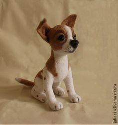 Adorable little needle felted puppy