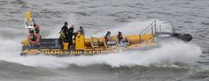 You can tell the storm force winds forecast from the Atlantic are heading our way. Thames Rib Experience bashing through the swell this morning.
