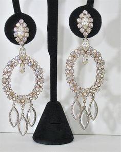 ON SALE Vintage Large Chandelier Earrings by NewToYouJewelry, $24.00