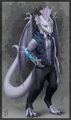 """""""Korik the Silver Dragonwrought Kobold Artificer For Thank you for commissioning me! Dungeons And Dragons Characters, Dnd Characters, Fantasy Characters, Character Concept, Character Art, Character Ideas, Humanoid Dragon, Dnd Dragons, Dnd Races"""