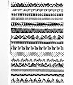 """Some more patterns. which one is your favorite? """"Pay attention to the intricate patterns of your existence that you take for granted. Mandala Doodle, Mandala Art Lesson, Mandala Artwork, Mandala Painting, Doodle Patterns, Zentangle Patterns, Zentangles, Madhubani Art, Madhubani Painting"""