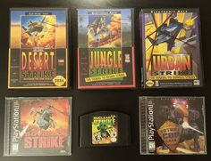 On instagram by jermee_the_geek #segagenesis #microhobbit (o) http://ift.tt/1U1aZG7 this weeks #serieswednesday entry #TheStrikeSeries!!! I loved all these games growing up. Couldn't find my ps1 nuclear strike so the 64 version fills it in. Future Cop should have stuck with Future Strike if you ask me. #sega #genesis #playstation #ps #ps1 #nintendo #nintendo64 #n64 #desertstrike #junglestrike #urbanstrike #sovietstrike #nuclearstrike #futurestrike #futurecoplapd