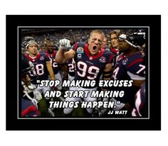 Football Motivation, Motivation Wall, Football Wall, Football Quotes, Football Rooms, Football Players, Jj Watt Quote, Quote Posters, Quote Prints