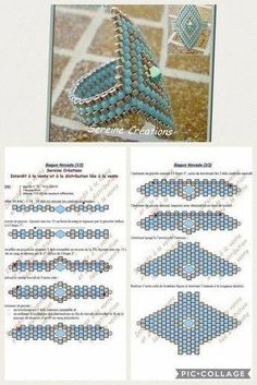 Best 12 7 Essential Bead Weaving Stitches You'll Return to Again and Again Beaded Necklace Patterns, Beaded Bracelets Tutorial, Seed Bead Patterns, Weaving Patterns, Crochet Patterns, Handmade Bracelets, Embroidery Patterns, Handmade Jewelry, Seed Bead Jewelry
