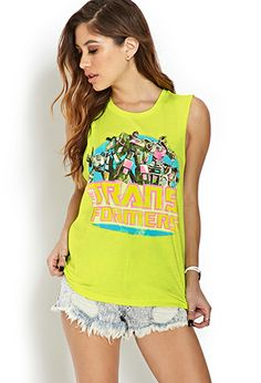 Transformers Knotted Back Tank   FOREVER21 - 2000123628
