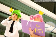 Cosmo and Wanda from Fairly Odd Parents cosplay