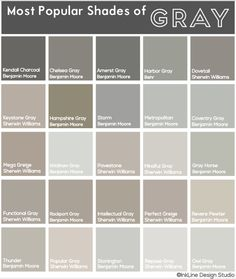 most popular gray paint colorsTheres no such thing as a boring shade of gray Check out this