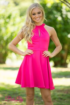 All I Ever Wanted Dress Hot Pink - The Pink Lily Boutique