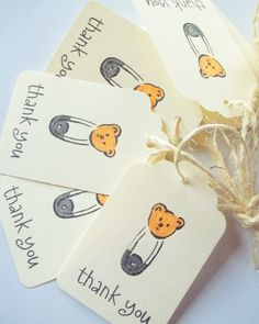 Baby Shower Favors Vintage Baby Shower Gift Tags by LillyThings, $5.50