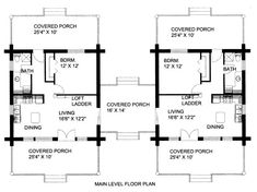 1730 square feet, 2 bedrooms, 3 batrooms, 2 parking space, on 1 . Dog Trot Floor Plans, Dog Trot House Plans, Duplex Floor Plans, Cabin Floor Plans, 1 Bedroom House Plans, Cottage House Plans, Small House Plans, Farm House, Doge