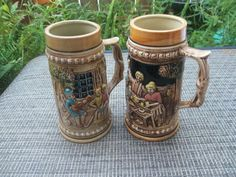 "Two German Style 7"" Beer Mugs"