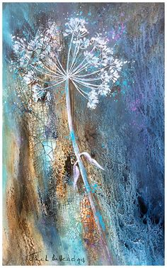 Abstract Flowers, Watercolor Flowers, Watercolor Art, Dandelion Wall Art, Watercolor Paintings Of Animals, Wax Art, Watercolor Projects, Autumn Painting, Landscape Art