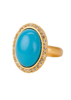 CORSICA TURQUOISE RING GOLD, TURQUOISE GOLD BP FINISH SIZE 6