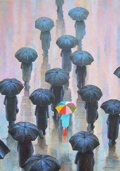"""#Sombrinhas """" Lá Fora está #Chovendo """" * Chove #Chuva Chove Sem Parar *"""